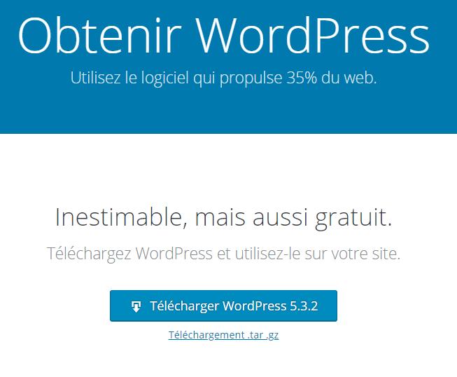 bouton de téléchargement de WordPress