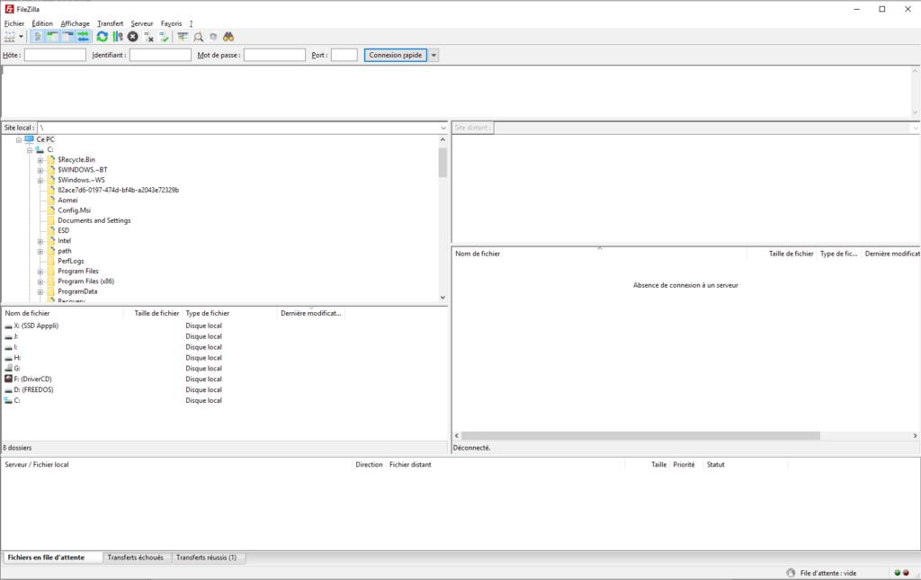 Utiliser FileZilla pour installer WordPress
